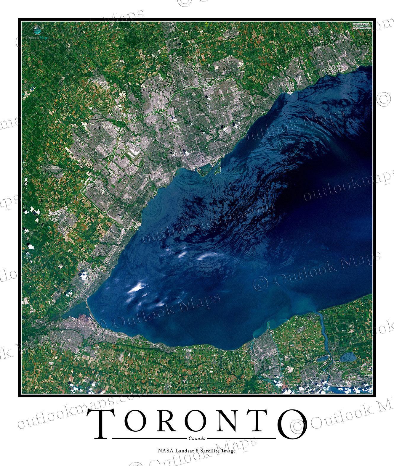 Toronto Ontario Jarvelle Satelliitti Kartta Kartta Toronto