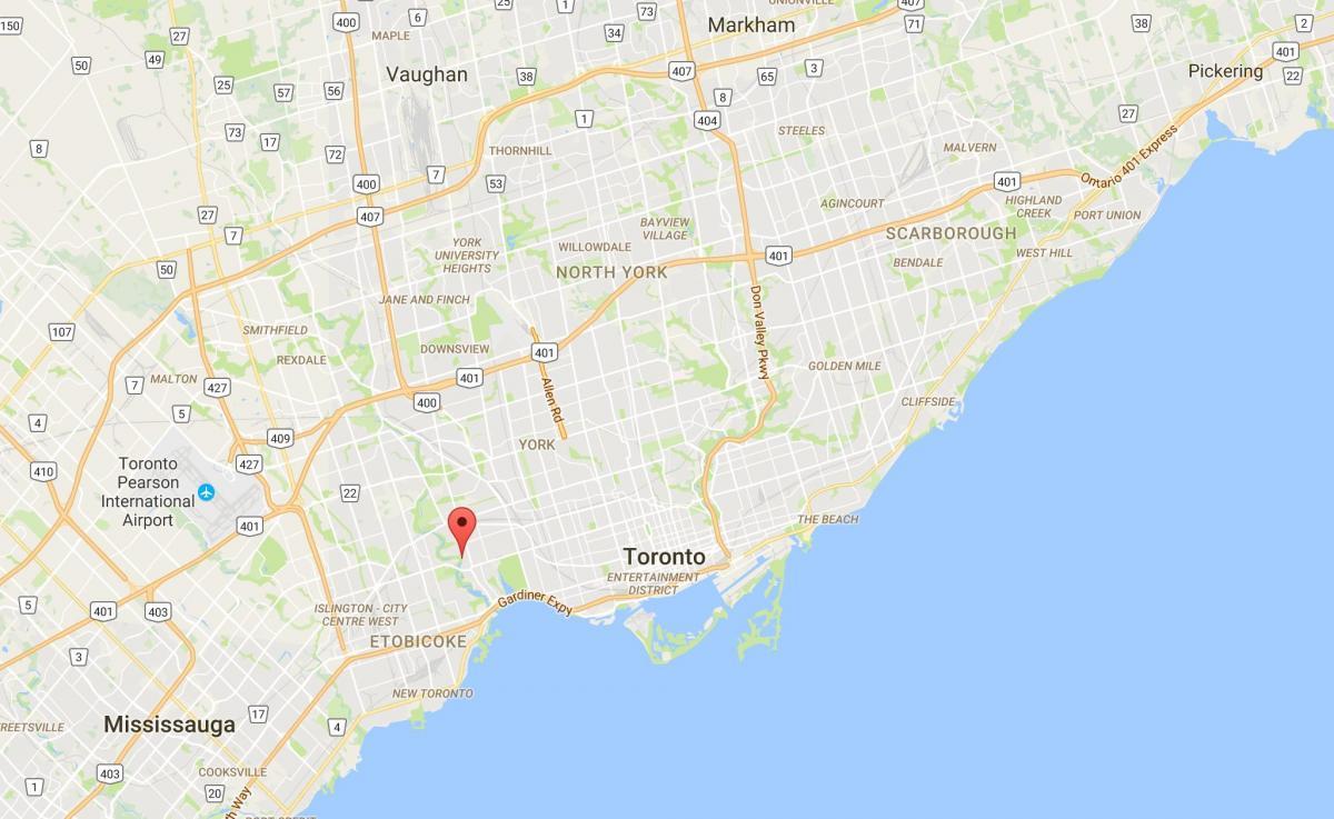 Vanha Mylly Naapuruus Toronto Kartta Kartta Old Mill
